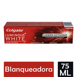 Crema Dental Colgate Luminous White Carbón Activado 75 mL