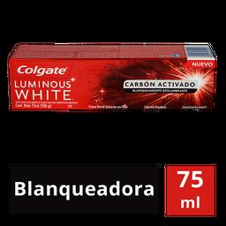 Colgate Crema Dental  Luminous White Carbón Activado