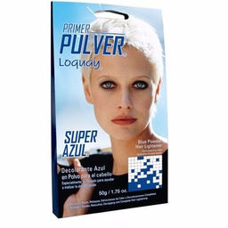 Decolorante en Polvo Primer Pulver Super Azul Para Cabello 50 g