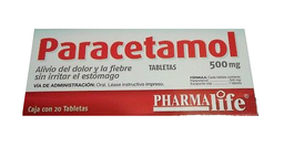 Paracetamol Pharmalife 20 Tabletas (500 mg)
