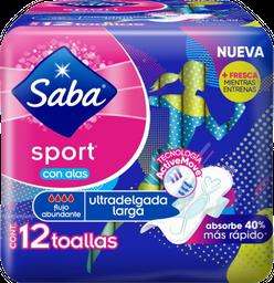 Saba Toallas FemeninasSport Ultradelgada Larga Con Alas