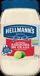 Mayonesa Hellmanns Reducida En grasa 190 g