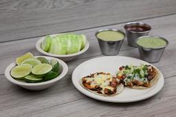 Tacos al Pastor Vegetarianos con Queso