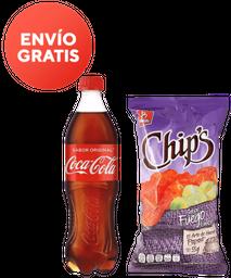 Coca-Cola Original 600 mL + Chips Fuego 55 g