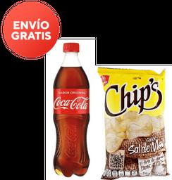 Coca-Cola Original 600 mL + Chips Sal de Mar 55 g