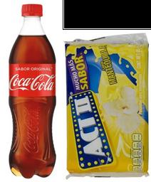 Coca-Cola Original 600 mL + Palomitas Act II Mantequilla 85 g