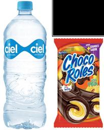 Agua Ciel 1 L + Pan Marinela Chocorroles 30 g