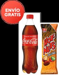 Coca Cola Original 600 mL + Hot Nuts 50 g