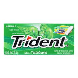 Chicle Trident Tibra 18's Yerbabuena 30.6 g