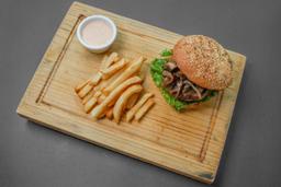 Bacon Mushroom Melt Burger