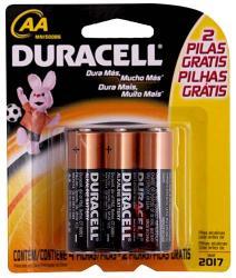 Duracell Pilas Aa + 2 Pilas Aa