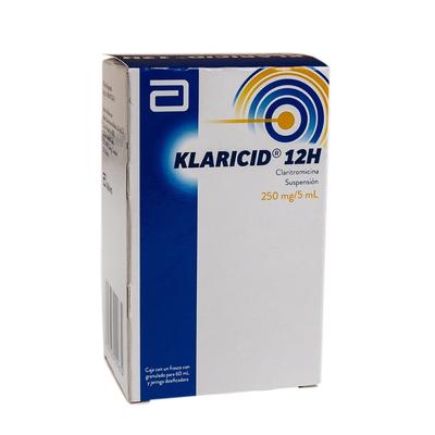 Klaricid 12 H Suspension 60 Ml 250 Mg En Farmazone Market Ciudad De Mexico