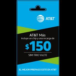 SIM con beneficios ATT Más $150