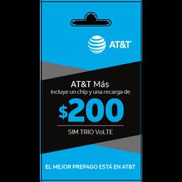 SIM con beneficios ATT Más $200