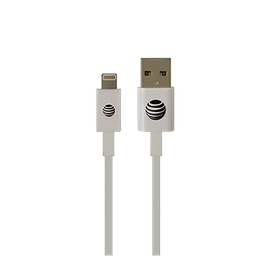 Cable Lightning 2M Color Blanco Marca AT&T