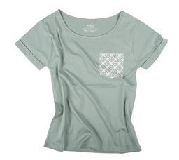Playera Fake Pocket Verde Salvia Para Mujer