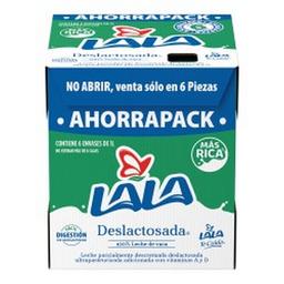Leche ULra Desl Semi Pack Lala 6 Litro Caja