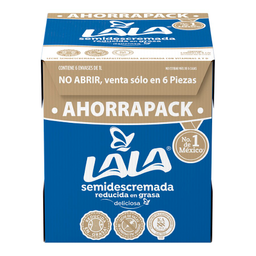 Leche ULra Semi Pack Lala 6 Litro Caja