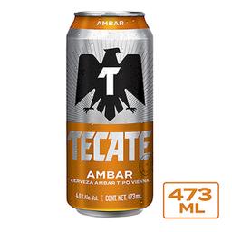 Cerveza Tecate Ambar 473 mL Lat