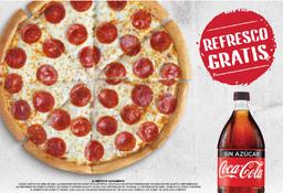 Pizza Tradicional Pepperoni Grande + Refresco Familiar Gratis
