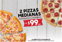 Combo 2 Pizzas Medianas