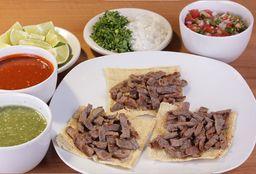 Taco Cuadrado Maíz Sabanita de Res