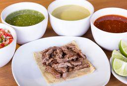 Taco Cuadrado Maíz Arrachera