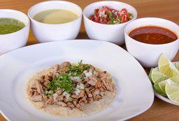 Taco Redondo Maíz Sabanita de Cerdo