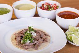Taco Redondo Maíz Sabanita de Res