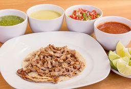 Taco Redondo Maíz Costilla de Roast Beef
