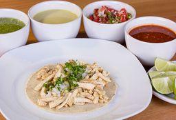 Taco Redondo Maíz Pollo