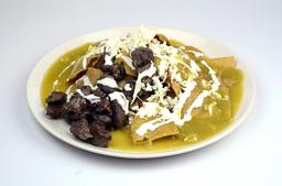 Chilaquiles Verdes con Arrachera