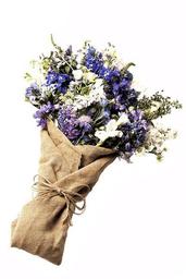 Ramo Floral Azul Celeste