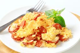 Huevos con Chorizo Vegano