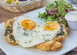 Huevos Cheval Espinaca