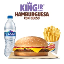King Jr Hamburguesa de Res con Queso