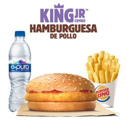 King Jr Hamburguesa de pollo con Queso