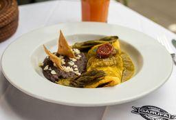 Omelette de Chicharron en Salsa Verde