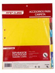 First Class Separador Para Carpeta Tamaño Carta
