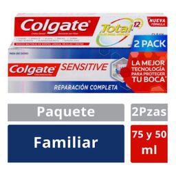 Colgate P Sensitive 75 mL + Total 12 50 mL