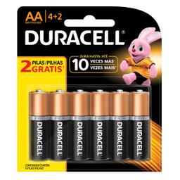 Pila Duracell AA 6 U