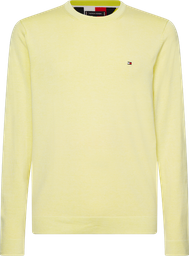 Sweater Double Face Crew Neck Yellow