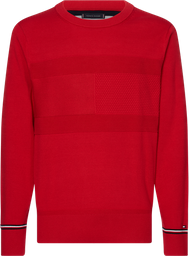 Sweater Structured Flag Rojo