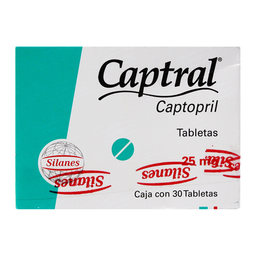 Captral 30 Tabletas. (25 mg)