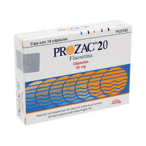 Prozac Eli Lilly 14 Cápsula(S) Caja Fluoxetina 20 Mg