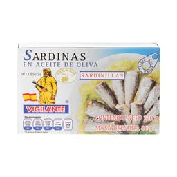 Sardinas Vigilante en Aceite de Oliva 120 g