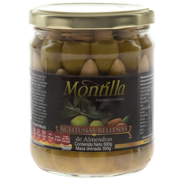 Aceitunas Montilla Rellenas de Almendras 500 g