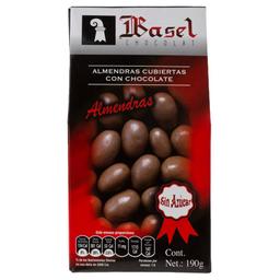 Almendra Basel Cubiertas Con Chocolate Sin Azúcar 190 g