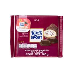 Chocolate Ritter Amargo 50% Cacao 50 g