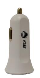 Cargador AT&T Blanco de Auto con Dos Entradas USB